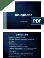 Bioinginerie Intro