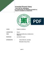 Informe de Verificacion y Validacion de Requisitos- Gomez