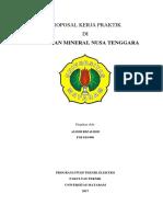 Proposal PKL PT. Amman Mineral Nusa Tenggara