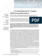 Active Printed Materials for Complex Self Evolving Deformations