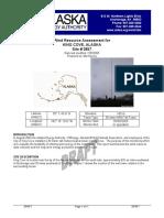 KingCove Wind Data Report