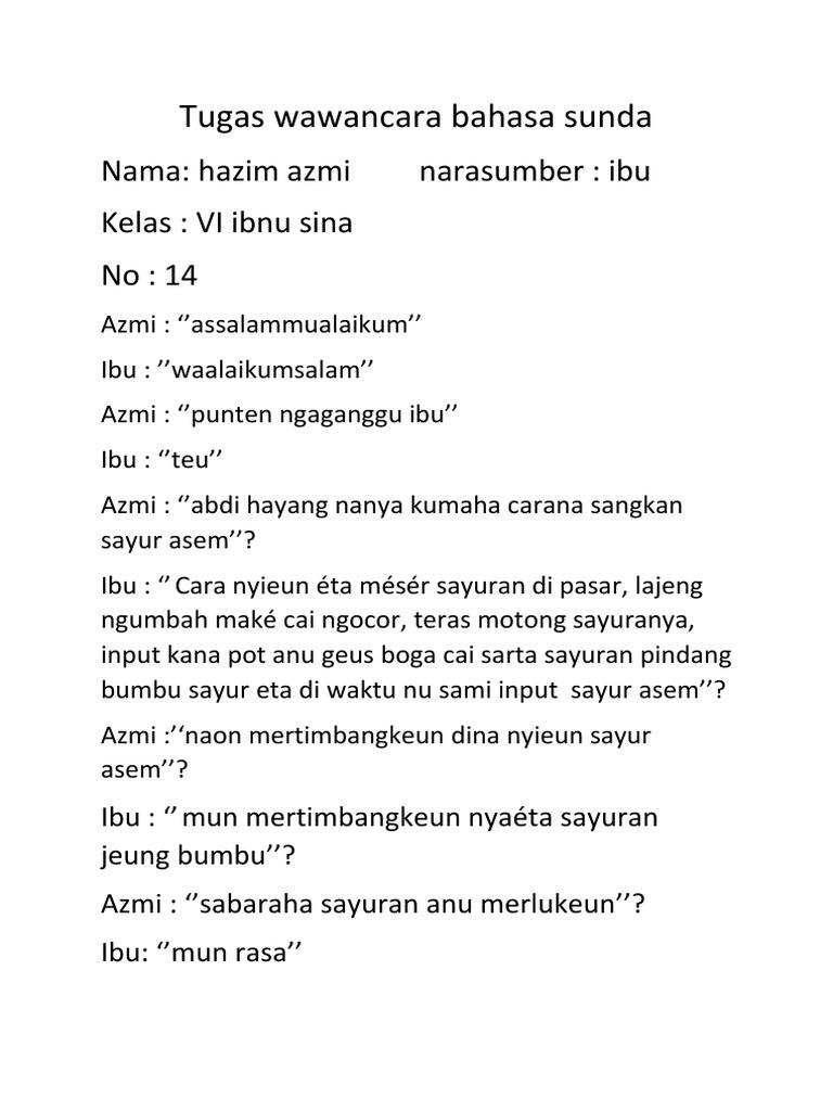 Wawancara Dalam Bahasa Sunda Ilmusosial Id