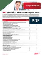 ABBYY FineReader 11 Pro. vs. CE