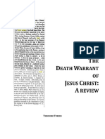 Death Warrant of Jesus Christ