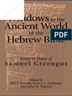 Windows to the Ancient World of the Hebrew Bible