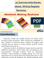 How to Start an Exercise Note Books, School Notebook, Writing Register Business. Notebook Making Business