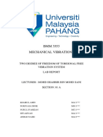 BMM3533 - Two Degree of Freedom of Torsional Free Vibration System