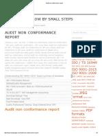 Audit Non Conformance Report