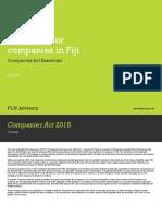 A New Era for Companies in Fiji