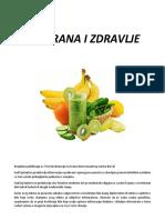 Prehrana i Zdravlje