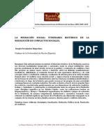 XSergio Fernández Riquelme. La Mediación Social. La Razón Histórica 9, 2009