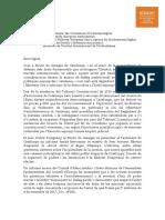 Carta del Síndic de Greuges a instancias europeas