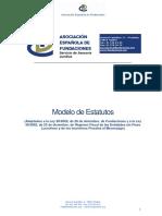 Modelo de Estatutos de una Fundación. Asociación Española de Fundaciones