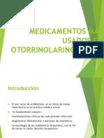 Medicamentos Más Usados en Otorrinolaringología