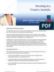 Investing in a Creative Australia - Fact Sheet