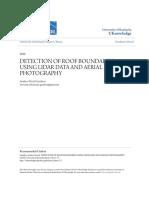 Detection of Roof Boundaries Using Lidar Data and Aerial Photogra