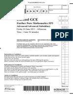 June 2011 QP - FP3 Edexcel