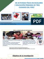 Presentación Estudio Actividad Fisica- Tarapoto
