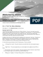 "#24 A ""Test"" for Alien Abduction"