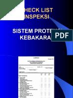 Checklist Inspeksi Sistem Proteksi Kebakaran