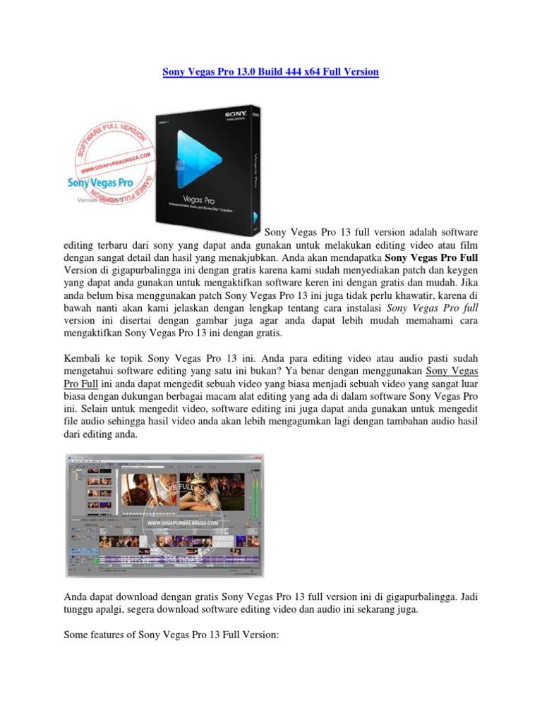 download sony vegas pro 13 32 bit gratis