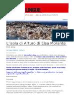 Lisola Di Arturo Di Elsa Morante