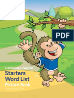 396158 Yle Starters Word List Picture Book 2018