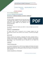 5.2 Especificaciones t. Mejoramiento de Lap Laza.