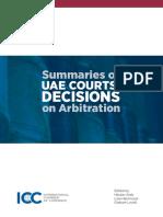 ICC Summaries of UAE Courts Decisions on Arbitration