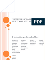 Identifying Word Functions