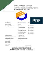 Pengukuran Resistansi Generator & Motor Sinkron 3 Fasa