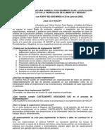 r.m Nº 482-2005 Minsa Que Es El Haccp