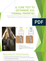 Thermal Cone Test to Determine Soil Thermal Prperties