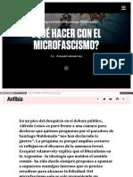 Que Hacer Con El Microfascismo