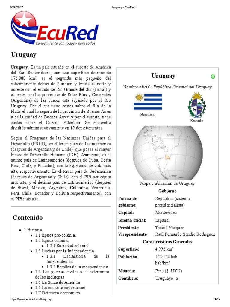6bb6a674575 Uruguay - EcuRed