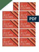 De Mil Colores Tarjetas