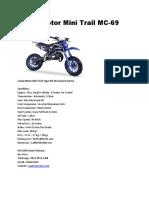 Lenka Motor Mini Trail MC-69