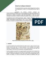 Brasil en La Época Colonial