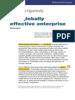 The Globally Effective Enterprise