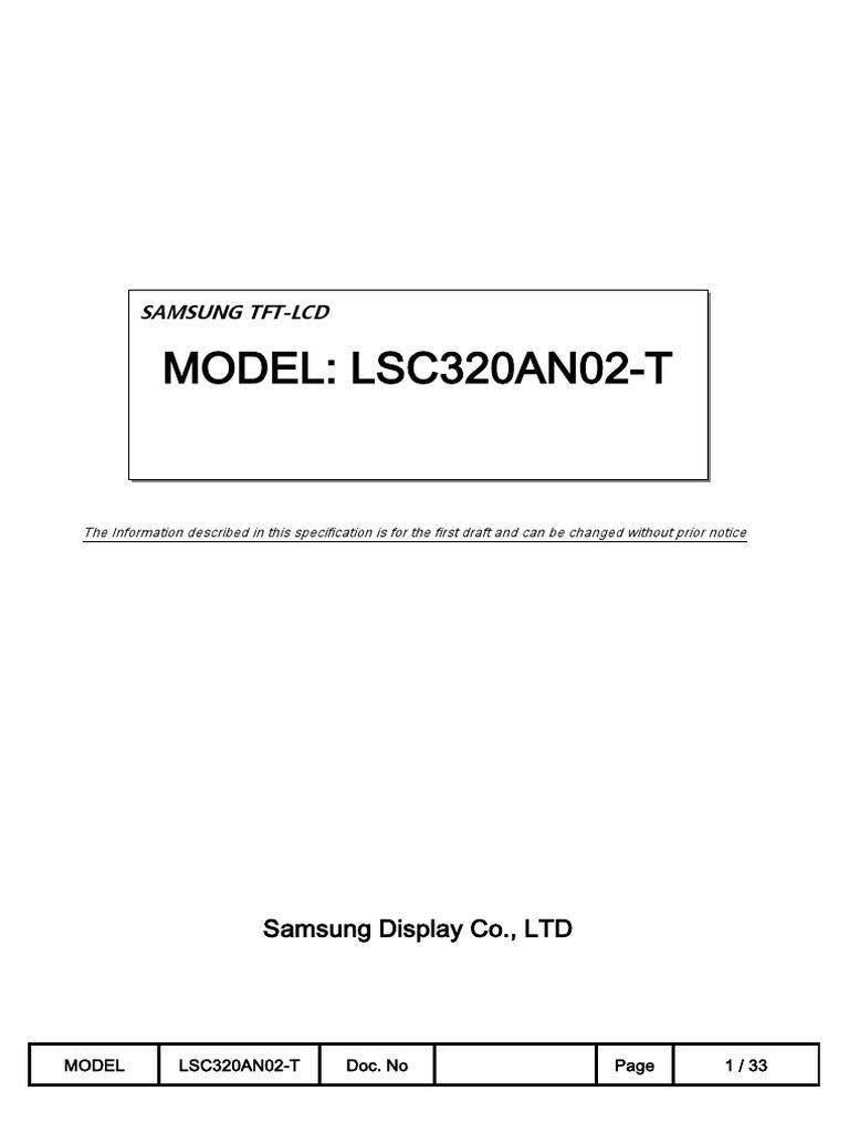 Panel Samsung Lsc320an02-t 0 [Ds]   Thin Film Transistor Liquid