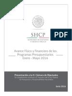 2 Avance Fisico y Financiero de Los Prog-Presupuestarios 2016