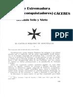 El castillo roquero de Monfragüe en Castillos de Extremadura por Gervasio Velo y Nieto (1968)  p. 349-370