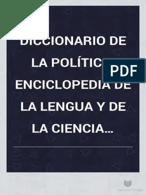 Diccionario De Política Monarca Napoleón