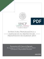 1Estructura Programatica Emplea Proyecto Presupuesto Egresos2015