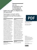 Empoderamiento en Estudiantes Universitarios Con Discapacidad -Revista Española de Discapacidad