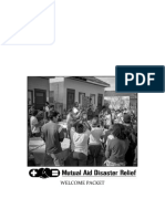 Mutual Aid Disaster Relief Welcome Packet