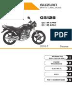 SUZUKI - GS125 2A-k8-k9-L0 - 2008 A 2010