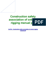 Construction Safety Association of Ontario Rigging Manual PDF