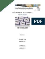 Programacion Investigacion Unidad 6 y 7