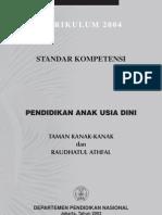 Standar Kompetensi TK_RA (Kurikulum 2004)